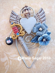 Angel brooch made for my friend Renee's sister Jacquie